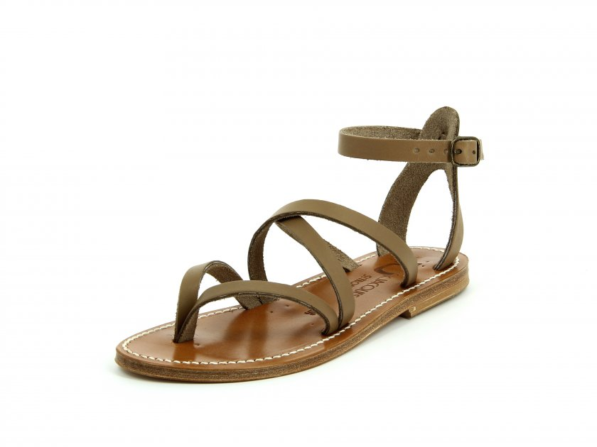 Fusain Leather Sandals - Taupe K.Jacques n4Nxihd